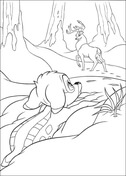 Bambi Is Looking For Roe Deer  from Bambi Coloring Page