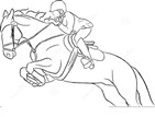 Barbie Horse Fun Coloring Page
