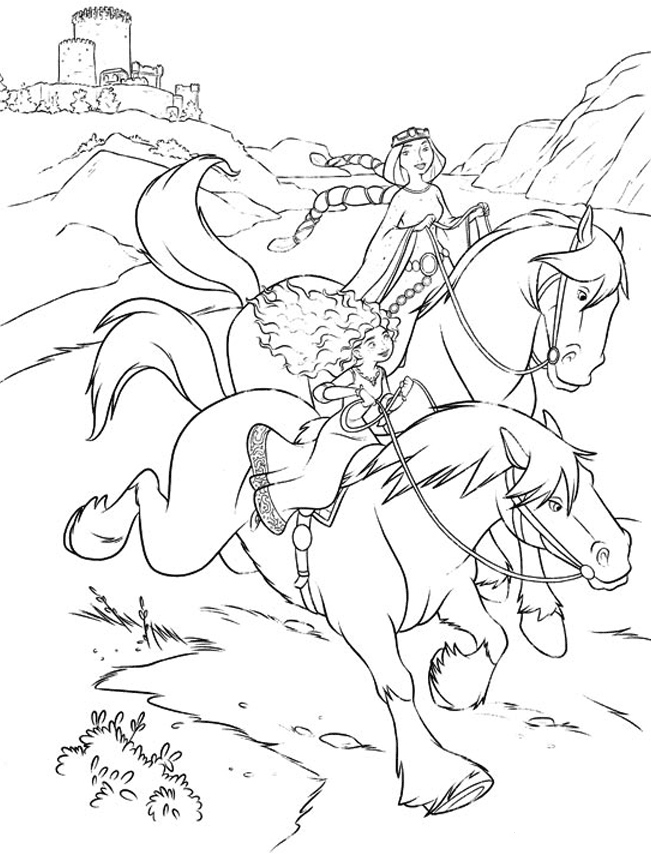 Barbie Horses with Humans Coloring Page