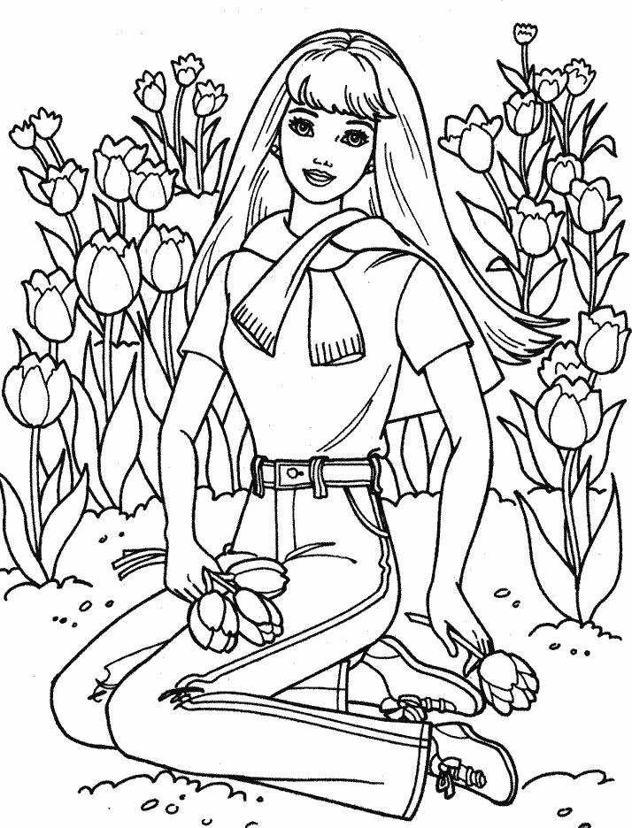 Barbie in the garden