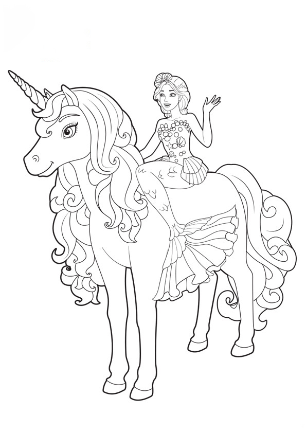 Barbie with unicorn