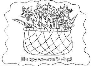 Basket Flowers Women s Day
