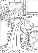 Batman And Alfred Pennyworth from Batman Coloring Page