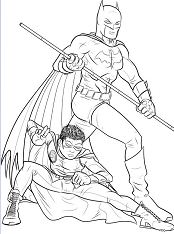 Batman and Robin 2 Coloring Page