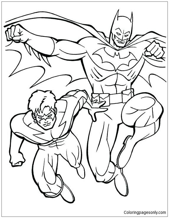 Batman Vs Robin Coloring Pages.Batman And Robin Lego Coloring ... | 739x572