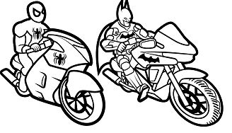 Batman and Spiderman Coloring Page