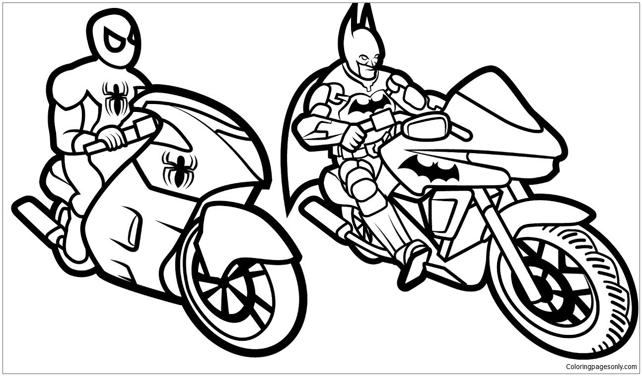 Batman and Spiderman Coloring Page - Free Coloring Pages ...
