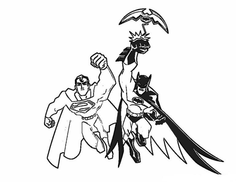 Related Coloring Pages Batman And Superman