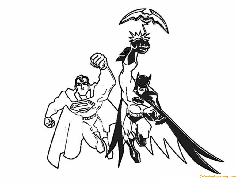 Batman And Superman Coloring Page Free Coloring Pages Online