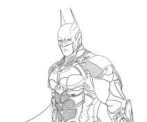Batman Arkham Knight Lineart  Coloring Page