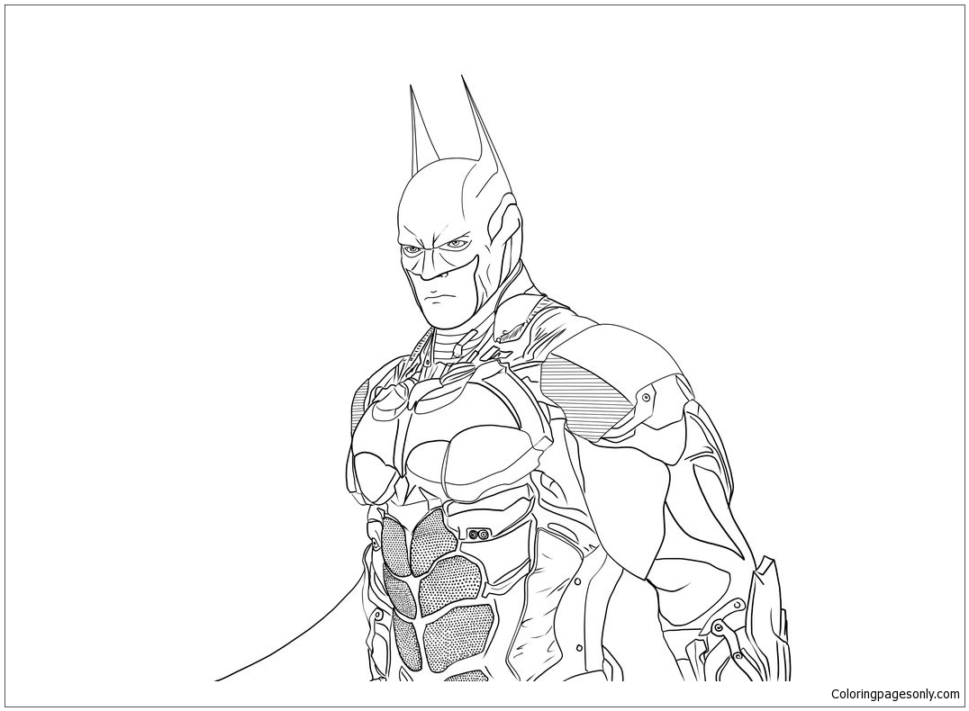 - Batman Arkham Knight Lineart Coloring Page - Free Coloring Pages