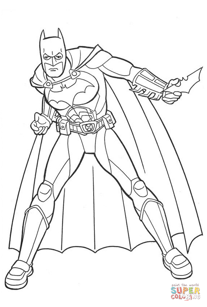 Batman The Caped Crusader From Batman Coloring Page Free