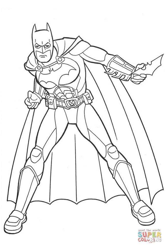 Batman, The Caped Crusader From Batman Coloring Page