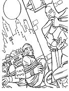 Batman Catching Brigands Coloring Page