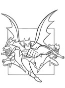 Batman, Catwoman And Robin  from Batman Coloring Page