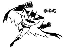Batman Cute  Coloring Page