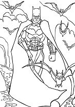 Batman Fargeleging For Barn Coloring Page