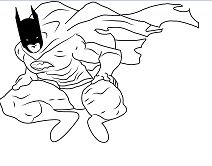 Batman Finished Coloring Page