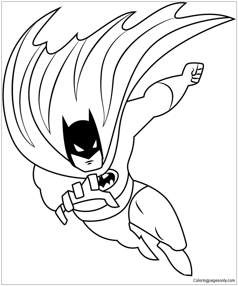 Coloring page for kids - LEGO BATMAN from The LEGO BATMAN Movie ... | 974x813