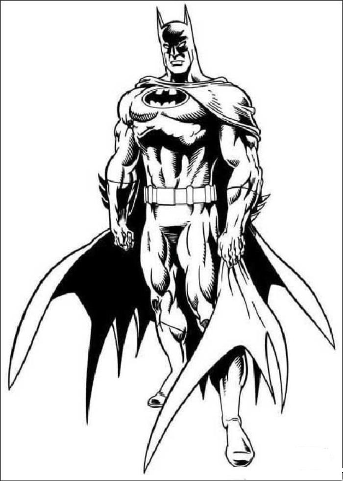 Batman From Batman 2 Coloring Pages - Cartoons Coloring Pages - Free Printable  Coloring Pages Online