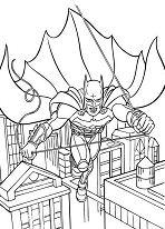 Batman Gotham City Coloring Page