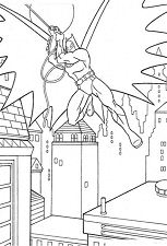 Batman Hang Down Coloring Page