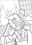 Batman on the roof from Batman Coloring Page