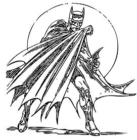Batman In Action Coloring Page