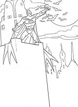 Batman In The Darknest Coloring Page