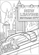 Batman Is Leaving Gotham City  from Batman Coloring Page