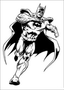 Batman Is Running  from Batman Coloring Page
