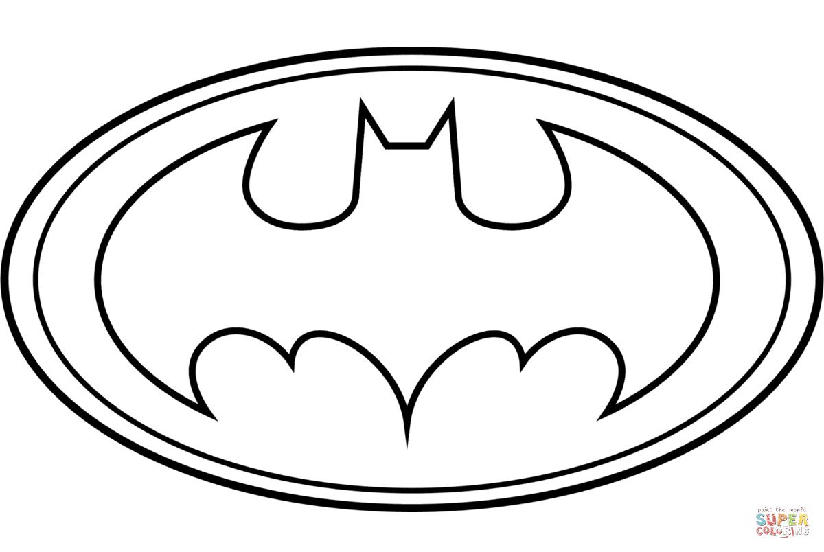 Batman Logo From Batman Coloring Page