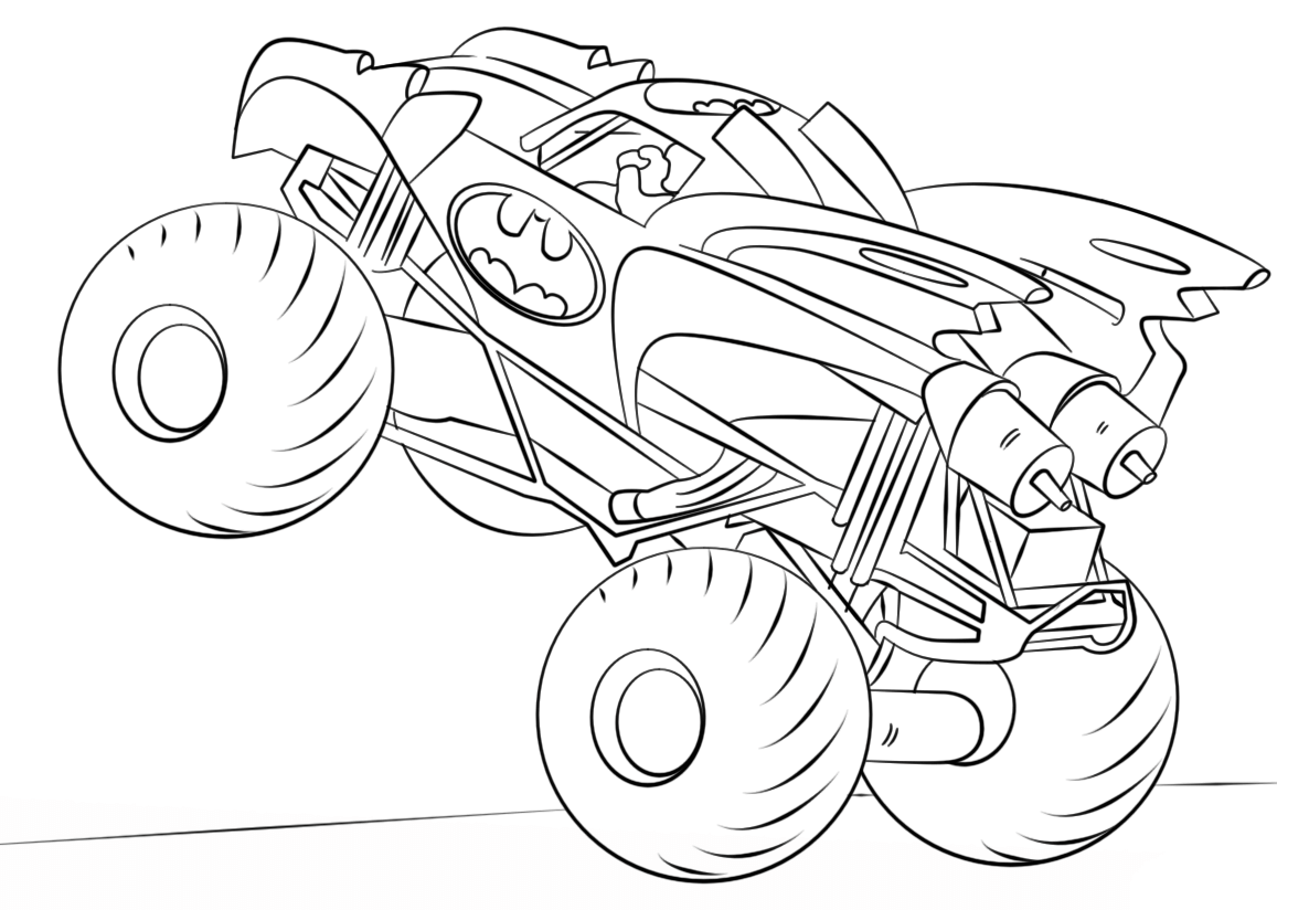 Batman Monster Truck Coloring Page