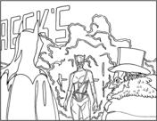 Batman Returns Scene from Batman Coloring Page