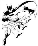Batman Superhero Coloring Page