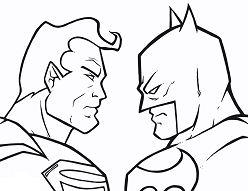 Batman Vs Superman 1 Coloring Page