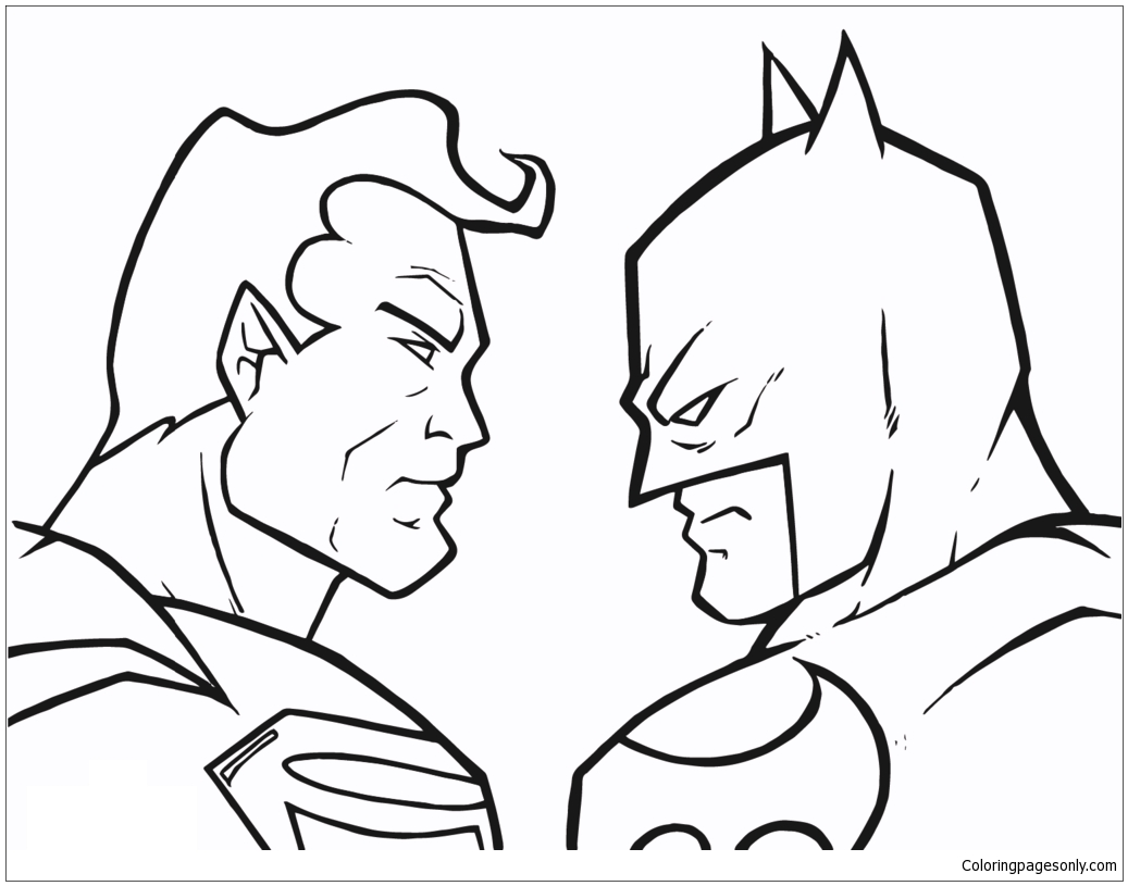 - Batman Vs Superman 1 Coloring Page - Free Coloring Pages Online