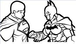 Batman Vs Superman 2 Coloring Page