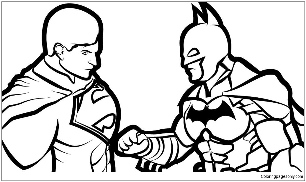 Batman Vs Superman 2 Coloring Page - Free Coloring Pages ...