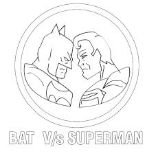 Batman vs Superman Coloring Page