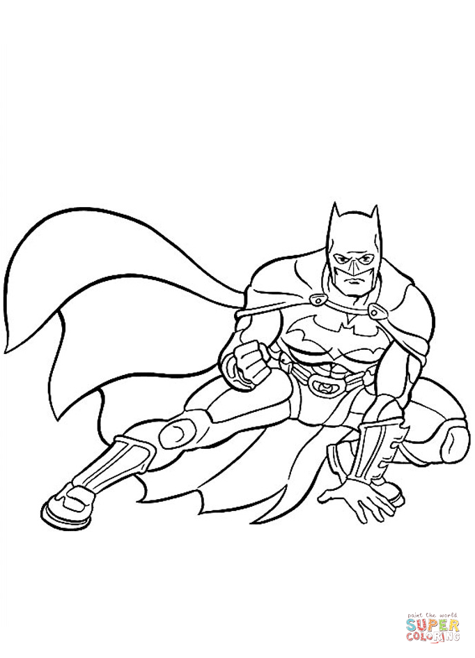 Batman, The World's Greatest Detective From Batman Coloring Page
