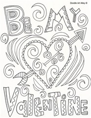 Be My Lover For Valentines Day Coloring Page