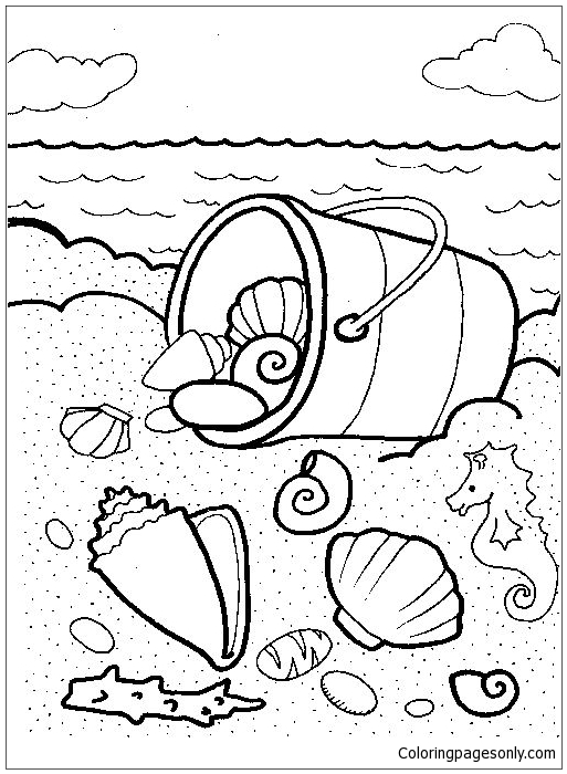 Beach And Sea Shell Coloring Pages Nature Seasons Coloring Pages Free Printable Coloring Pages Online