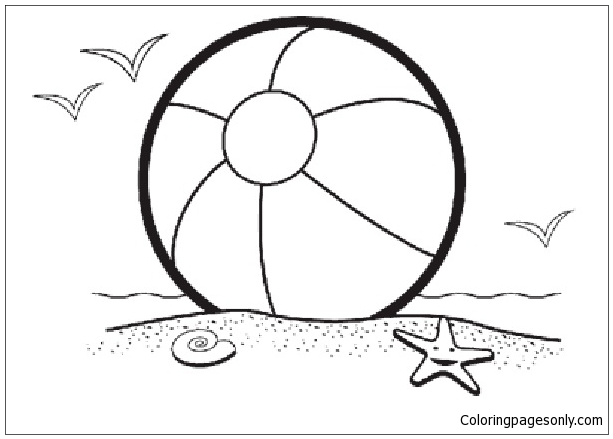 Beach Ball 1 Coloring Page