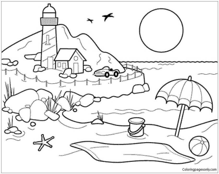Beach Ball Coloring Pages - Nature & Seasons Coloring Pages - Free Printable  Coloring Pages Online