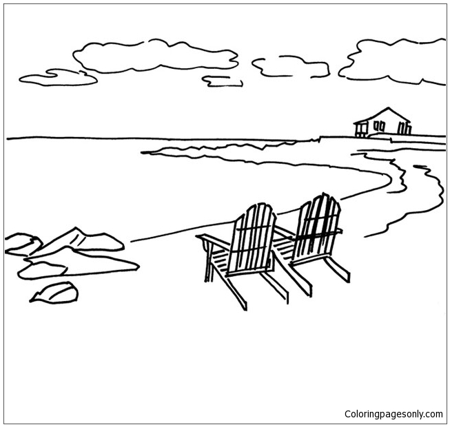 Beach Scene 3 Coloring Pages Nature Seasons Coloring Pages Free Printable Coloring Pages Online