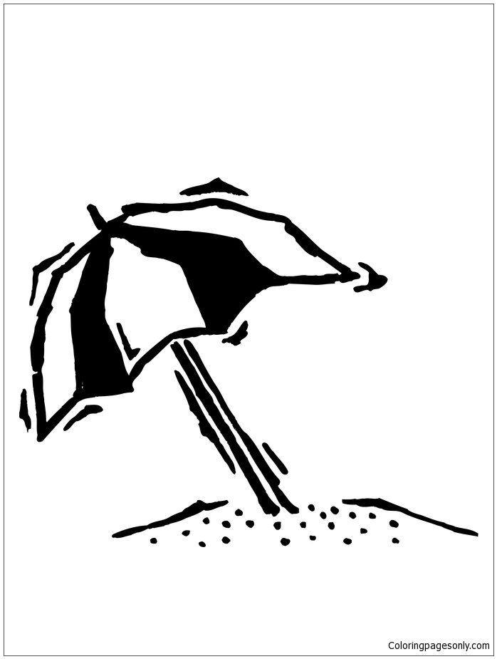 beach umbrella coloring page free coloring pages online
