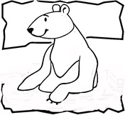 Bear North Pole Coloring Page