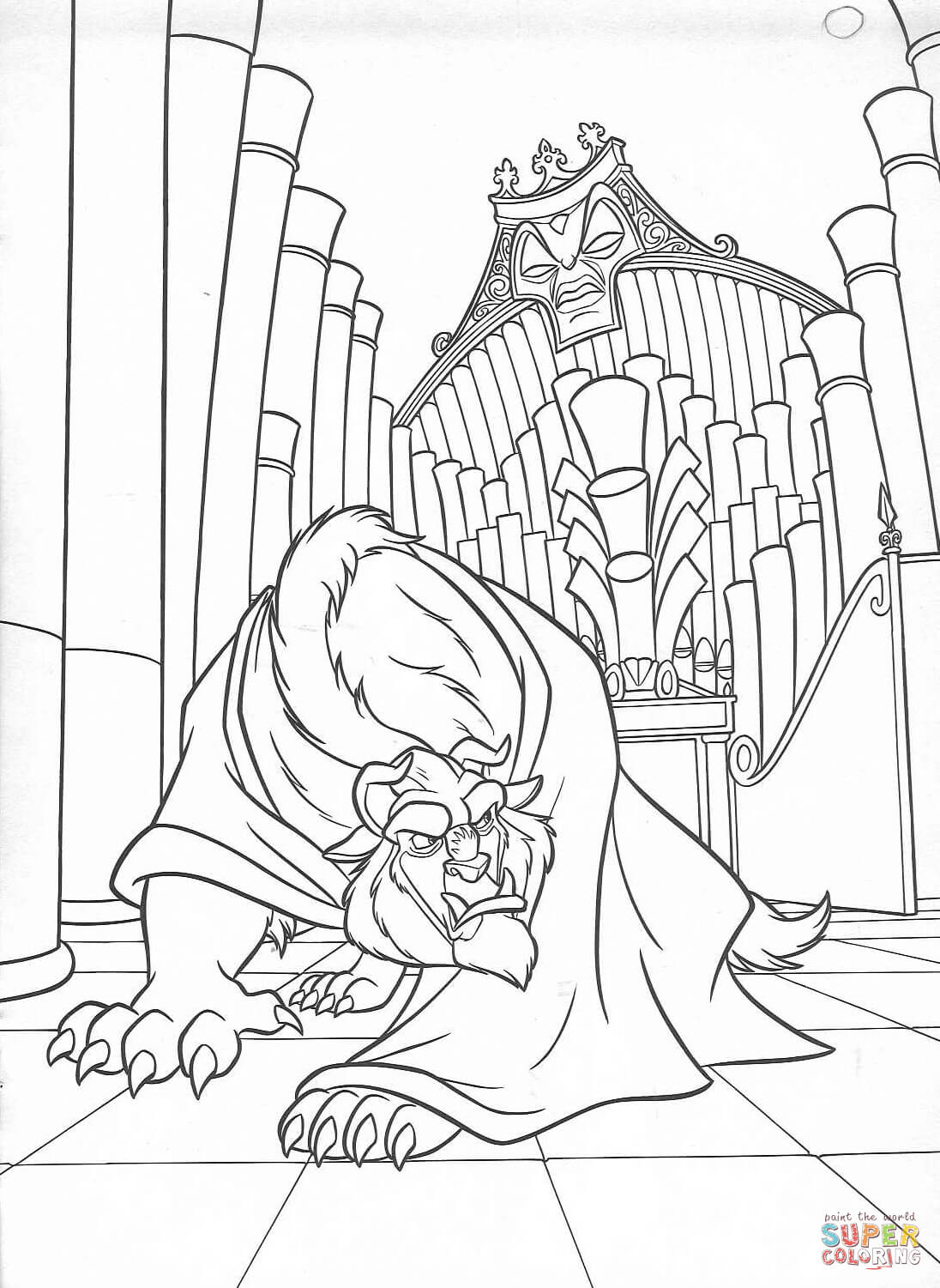 Beast And Maestro Forte From Beauty And The Beast Coloring Page