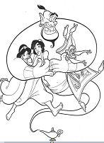 Beautiful Aladdin Coloring Page